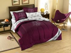The Northwest Texas A & M Aggies NCAA Comforter Set $90.90 from bedding.com  #texas #aggies #ncaa