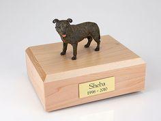 Staffordshire Bull Terrier, Brindle TR200-885 Figurine Urn
