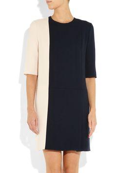 Roksanda Ilincic|Aya color-block wool-crepe dress|NET-A-PORTER.COM