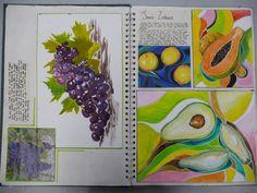 Healthy food to eat in mexico Textiles Sketchbook, Sketchbook Layout, Gcse Art Sketchbook, Sketchbook Inspiration, Sketchbook Ideas, Sketchbooks, Juan Sanchez Cotan, Art Alevel, Art Courses