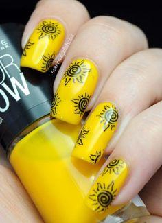Sun ... Nail Art Design