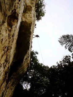 Rappelling in Cantabaco Abseiling, Rappelling, Climbers, Rock Climbing, Asia Travel, Southeast Asia, Memoirs, Philippines, Romance