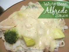 White Bean Alfredo Sauce - seems like a tasty way to modify this otherwise unhealthy sauce.