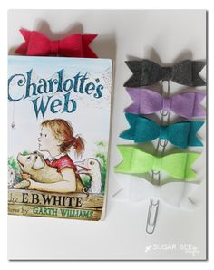 Felt Bow Bookmarks!