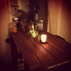 Kitchen table made out of old pallets