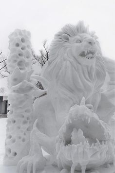 International Snow Sculpting Competition - Japan