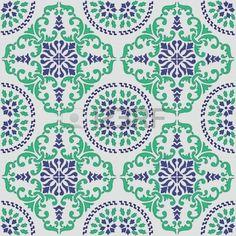 nahtlose Vektor-Muster von Original sizilianische Fliesen gemacht Stockfoto - 21844972