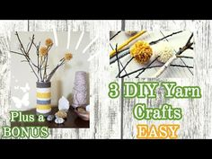 Yarn Crafts DIY Room Decor Hello and Welcome. I am taking part in a fun challenge, Craft it 3 ways. Dollar Tree Finds, Dollar Tree Crafts, Decor Crafts, Diy Room Decor, Diy Crafts, Yarn Projects, Projects To Try, Easy Yarn Crafts, Fun Challenges