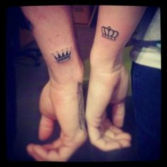 King and Queen Couple Tattoo Idea