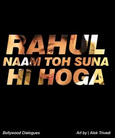 Guess which Iconic Bollywood movie this dialogue is from? It will probably only take one guess!