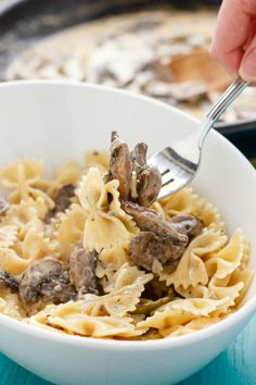 Portobello mushroom pasta with cream sauce is an easy and delicious recipe that will have your guests awed, all the while remaining simple for you. Entree Recipes, Pasta Recipes, Dinner Recipes, Cooking Recipes, Dinner Ideas, Cream Sauce Pasta, Cream Sauce Recipes, Mushroom Cream Sauces, Mushroom Pasta