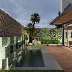 Residência A/L -  Piscina . . . . . Área de lazer.  Projeto: @alexsandro.arq 3D : @alexsandro.arq Sidewalk, 3d, Play Areas, Swiming Pool, Interiors, Side Walkway, Walkway, Walkways, Pavement