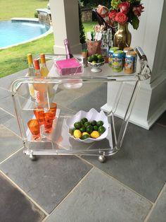 Lucite bar cart! Love everything and anything lucite!!