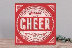 Cheer Stamp Business Holiday Cards by GeekInk Desi...   Minted
