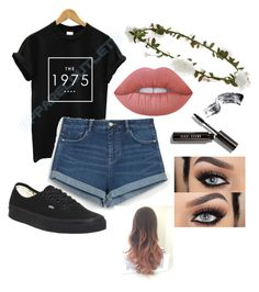 """""""The 1975 :)// cool outfit :)"""" by aaronsbae ❤ liked on Polyvore featuring Zara, Vans, Accessorize, Lime Crime and Bobbi Brown Cosmetics"""