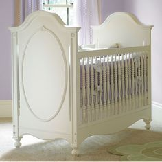 something about this convertible crib screams vintage and old world elegance. Love that this style comes in many color finishes