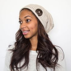 Satin Lined Beanie with Button Embellishment by TagMeTrendy 27afe3e7ed38