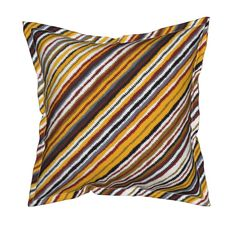 Serama Throw Pillow featuring ziggy by scrummy | Roostery Home Decor @roostery  #diagonal #roostery #pillow #serema #geo #fall #zigzag #chevron