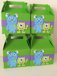 monsters inc favor boxes 4pc by Decorationsbybelle on Etsy