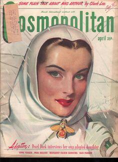 "Cosmopolitan magazine, APRIL 1946  Artist: ""April Showers"" Bradshaw Crandell"