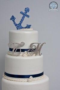 Anchor Themed Wedding Cake