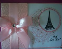 Parisian Sweet 16 Quinceañera Invitations by InvitationsbyArisbet