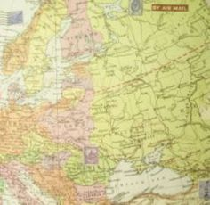 Gift Wrap - Vintage Europe Map Tesco!