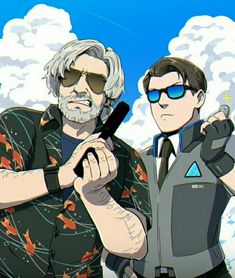 Hank and connor - - - - connor police deviant hank love game chibi love wallpaper animefan animestyle androide wallpaper detroit detroitbecomehuman Luther, Geeks, Cartoon Network, Haikyuu, Quantic Dream, Detroit Become Human Connor, Becoming Human, I Like Dogs, Human Art