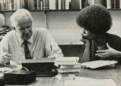 Herbert Marcuse e Angela Davis. Marcuse era o cara.