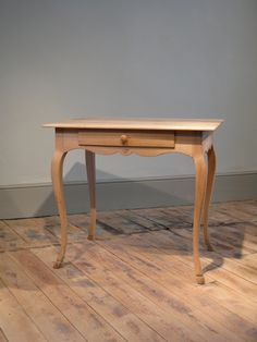 A Very Charming Early To Mid 20th Century French, Bleached Side Table, With  A