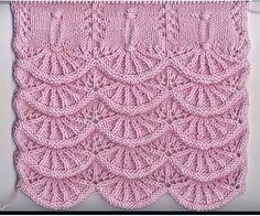 Узор «Алсацийские гребешки» (УЗОРЫ СПИЦАМИ) | Журнал Вдохновение Рукодельницы