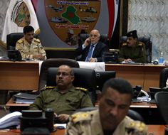 Iraq PM and commander in chief Abadi at joint operations command today to oversee progress of #Tikrit op against ISIS