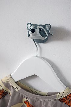 Forest Animals | wall hook Raccoon   #thezoo #zoo #capventure #dutchdesign #product #JorineOosterhoff #wallhook