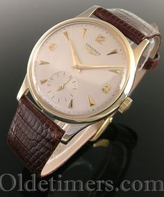 A 9ct gold round vintage Longines watch, 1965 Longines Hydroconquest, Omega Watch, Watches, Gold, Accessories, Collection, Vintage, Clocks, Watch