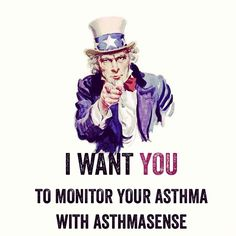 We want you to monitor your asthma with AsthmaSense! #BeatAsthma