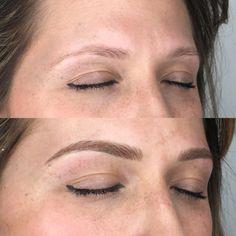 enhance makeup again Mircoblading Eyebrows, Permanent Eyebrows, Permanent Makeup, Eyelashes, Eyeliner, Eyebrow Makeup Tips, Hair Makeup, Organic Beauty, Beauty Hacks