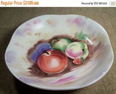 Decorative Bowl Hand Painted Still Life by SpringJewelryThings