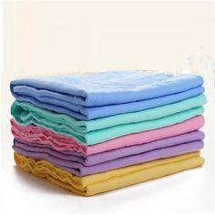 5PCS Absorbent Microfiber Towel Car Home Kitchen Washing Clean Wash Cloth TFSU