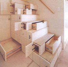 staircase shelves storage hidden under-stair home furniture clever design shelf cupboard space saving interior design
