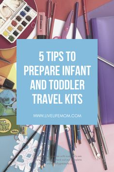 In this post, I share with you 5 easy tips to create the perfect travel busy bag for your infant or toddler to take with you on a road trip or an airplane. Traveling With Baby, Travel With Kids, Toddler Busy Bags, Kids Play Spaces, Color Puzzle, Checked Luggage, One Bag, Life Savers, Packing Tips