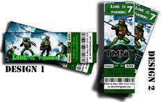 Ninja Turtles Birthday Invitation Ticket - Printable - Digital File - Teenage Mutant Ninja Turtles on Etsy, $10.00