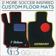 U-S-A! Check out the custom car mats we designed inspired by Thursday's World Cup match. Click the pin to see how to design your own.