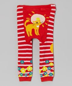 Take a look at this Red Lion Stripe Leggings by Legwarmers Warehouse on #zulily today!10