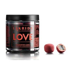Lakrids Love Strawberry and Raspberry Chocolate Liquorice. Delicious!