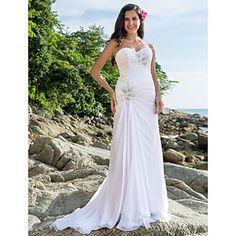 love!!!!! Sheath/Column Sweetheart Court Train Chiffon Wedding Dress – USD $ 247.49 @Ammie Neal