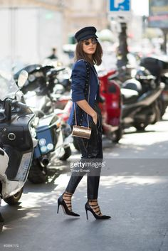 Camila Coelho seen in the streets of Paris on July 5, 2017 in Paris, France.