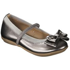 For K.  We have these in purple...they are cuter in person than they are in the pic.  Wish they carried them in bigger sizes!  Toddler Girl's Cherokee® Gilda Ballet Flat - Pewter.