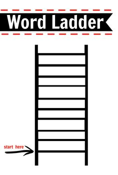 Word ladder literacy activity. FREE PRINTABLE for kindergarten and first grade.