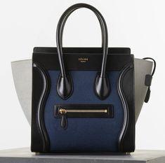 Celine Micro Tricolor Luggage Tote Textile  $2350 Spring 2015