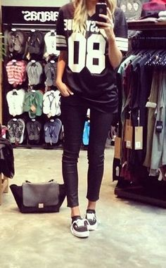 back to school by y clothing boutique | shopyandi.com Sporty Tee + Skinny denim and Vans!
